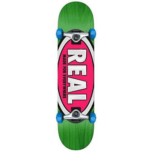 Real Skateboards, komplett, Mini, 7,38 x 29,5 cm, Team oval