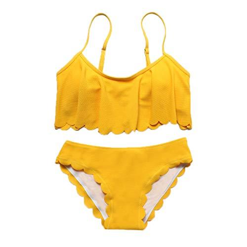 Momoxi Badeanzug Damen Sommer Frauen Sommer Mode Soild Bademode Beachwear Siamese Badeanzug Bikini Set Bikini