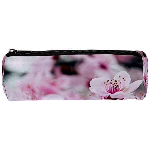 Estuche para lápices con diseño de flores rosas de Sakura con cremallera para artículos de papelería, viajes, escuela, suministros para estudiantes