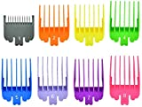 """Hair Clipper Guide Combs, 8Pcs Hair Trimmers Cutting Set Attachment Guide Combs, Wahl Replacement Guards Set Lengths from 1/8""""to 1""""(3-25mm)"""