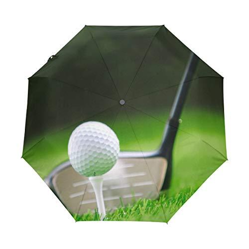 BIGJOKE Paraguas Plegable de Cierre automático con diseño de Pelota de Golf,...