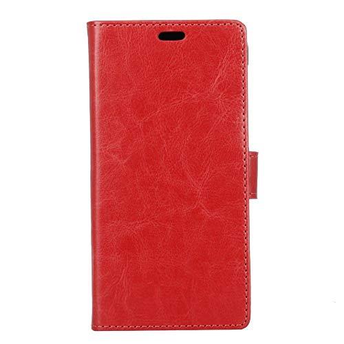 jbTec Handy Hülle Hülle passend für Wiko View XL - Schutz Tasche Smartphone Flip Cover Phone Bag Klapp Klappbar Etui Book, Farbe:Rot