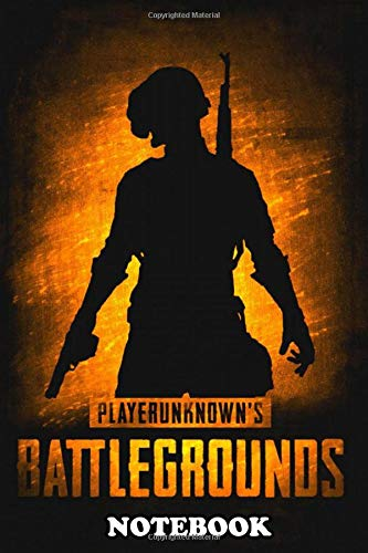Notebook: Artwork About Game Pubg Battlegrounds , Journal for Writing, College Ruled Size 6