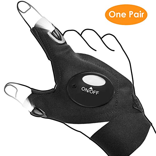 LED Flashlight Gloves, Men