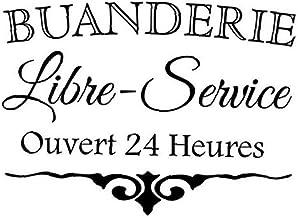 Autocollant Auto Adhésif Autocollant Buanderie Signe Citations Murales Stickers Autocollants Vinyl Art Mural Pour Cuisine ...