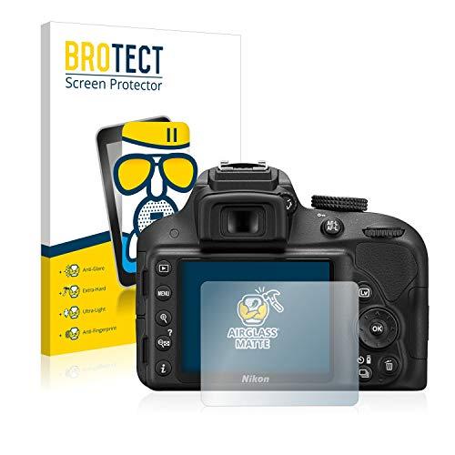 BROTECT Protector Pantalla Cristal Mate Compatible con Nikon D3300 Protector Pantalla Anti-Reflejos...