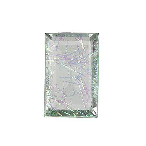 GEMHUB Dublet de cristal multicolor 89.30 quilates esmeralda en forma de piedra preciosa suelta para la fabricación de joyas