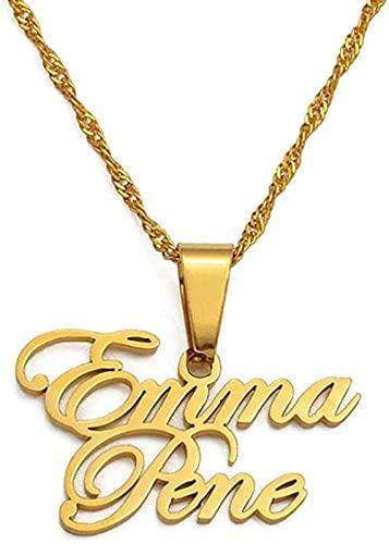 Collana con nome personalizzato Collana con ciondolo italiano Collana con nome di donna e marito Collane personalizzate Gioielli Regalo di nozze