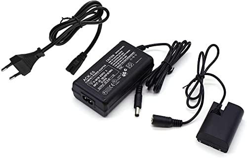 NAOGUNH-El Kit de Adaptador de alimentación de CA ACK-E6 reemplaza , Compatible con la cámara Canon EOS 70D / 7D, EOS 60D / 6D, EOS 5D Mark II III, EOS 5DS, EOS