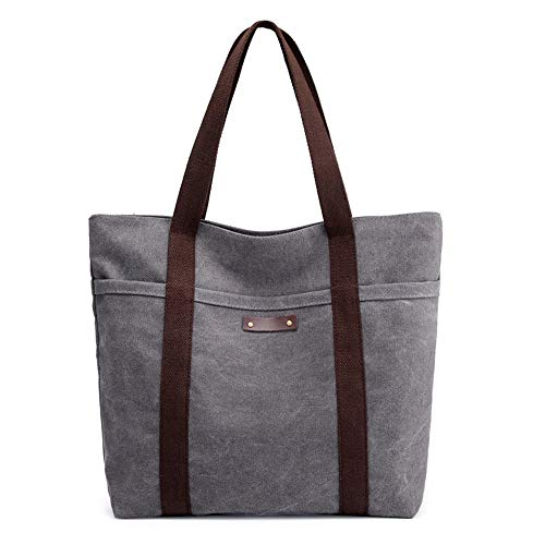 Borsa di tela, borsa a tracolla, borsetta, outdoor, grigia, C0287