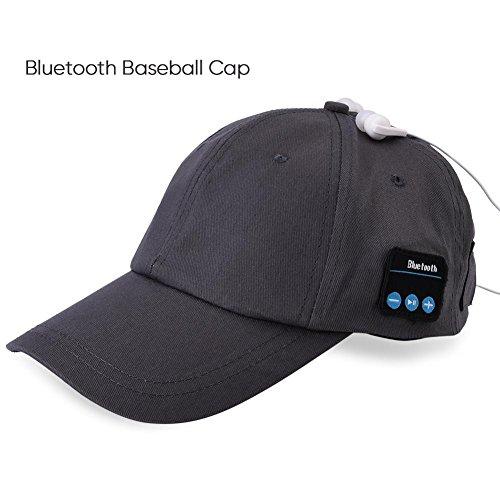 Cappello Bluetooth wireless Bluetooth cuffie cuffie musica cappello per sport all'aria aperta cappellino da baseball (grigio)