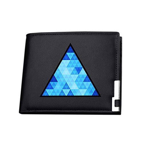 Detroit Become Human Portefeuilles Porte-Monnaie Durable Bourse Bi-Fold Gents Portefeuilles de Carte de crédit Porte-Monnaie Porte-Monnaie Portefeuille (Color : Black05, Size : 12 X 10 X 1.5cm)