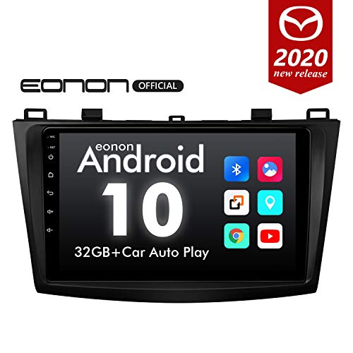2020 Newest Android 10 Car Stereo Double Din Car Radio, Android Head Unit, Eonon Car GPS Navigation for Mazda 3 (2010-2013), Car Radio Support Android Auto Built-in Apple Carplay/DSP-9 Inch-GA9463B