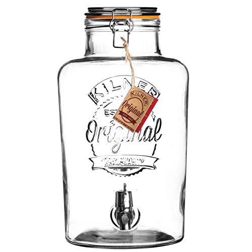 Kilner Clip Top Getränke-Spender (8L) (Transparent)