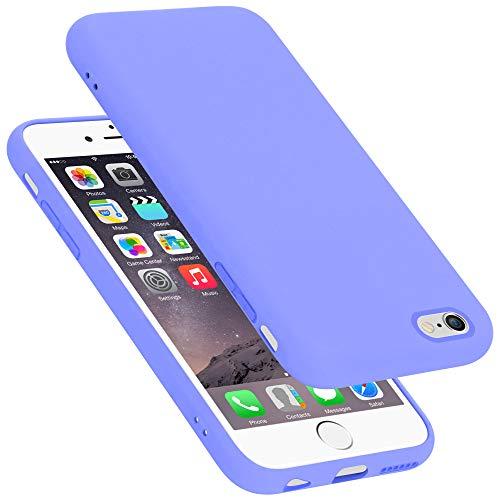 Cadorabo Custodia per Apple iPhone 6 in Liquid Lila Chiaro - Morbida Cover Protettiva Sottile di Silicone TPU con Bordo Protezione - Ultra Slim Case Antiurto Gel Back Bumper Guscio