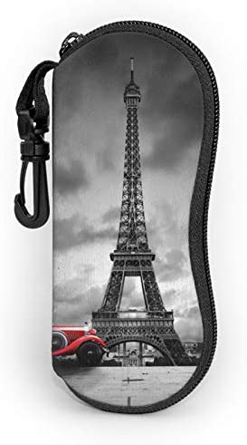 Paris Effel Tower Red Retro Car Sunglasses Soft Case Portable Ultra Light Eyeglasses Bag Multifunction product image