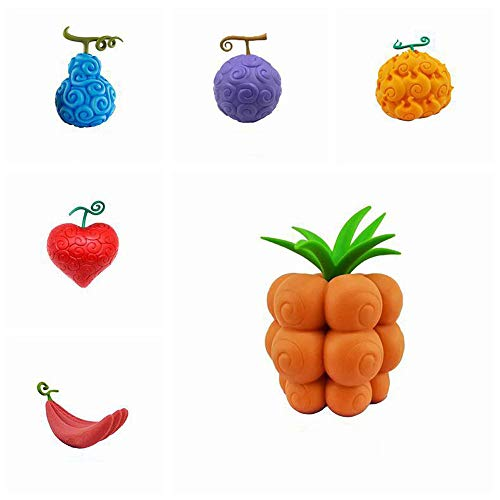 QHYZRV One Piece Devil Fruit Burning Rubber Surgery Dark Fruit Luffy Figure Anime Decoration Model Toy Doll Gift Statue Sculpture Doll Height 10cm