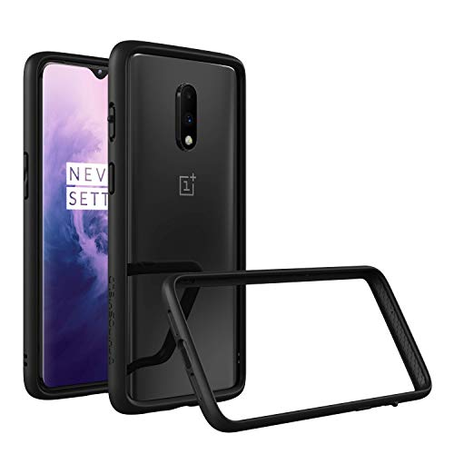 RhinoShield Bumper Case Compatible with [OnePlus 7] | CrashGuard - Shock Absorbent Slim Design tective Cover [3.5M / 11ft Drop tection] - Black