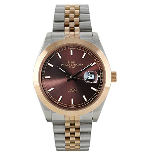 M&M - Reloj primer Emporio bicolor de acero 1102CJ