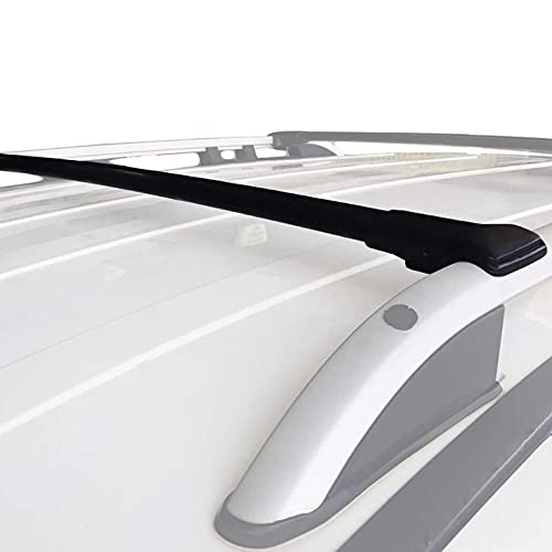 RE&AR Tuning Para Citroen C3 Aircross 2018-2020 Barras de techo Aluminio Negro