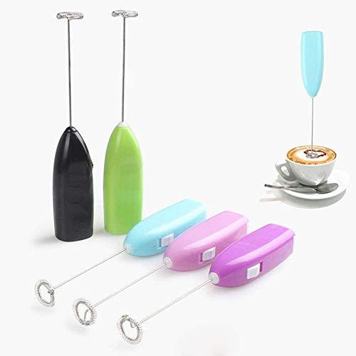 Melkschuim, Schuimmachine met RVS Klop, Handheld Ei Beater Drink Mixer Mini Blender voor Cappuccino, Latte, Boter Koffie, Matcha Thee, Hot Chocolade, Eieren Mix en Meer