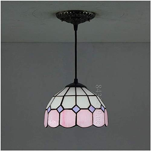DIMPLEYA 8-Zoll-handgefertigte Tiffany-kronleuchterlampe Im Tiffany-Stil Mit Farbigem Glasdesign Für Wohnkultur, Home