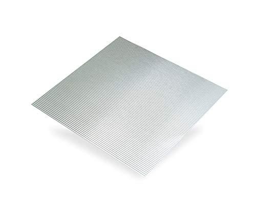 Chapa de aluminio ondulado inc. ep0,5 mm, 500 x 250 mm.