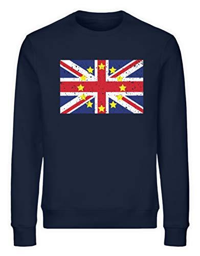 generisch Ginebra Great Britain Part of Europe Union Jack Flag European Union EU Flag England Remain – Sudadera Unisex orgánica Azul Marino M