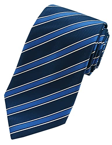 Towergem Extra lange Blau Streifen Krawatte XL 160 cm lange Geschäftsanzug Herren Krawatte