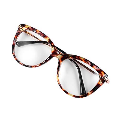 ABOOFAN 1 par de Gafas de Ojo de Gato Gafas de Lectura Portátiles Lentes Planas con Espejo para Mujeres Y Hombres