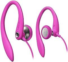 Philips SHS3200PK/37 Flexible Earhook Headphones, Pink