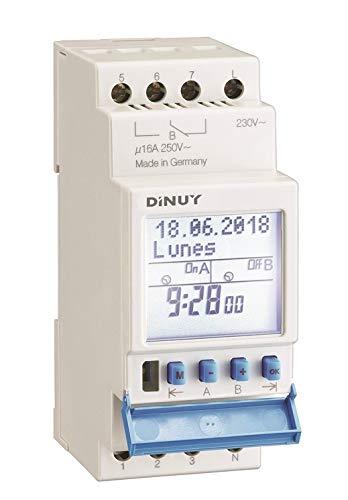 Dinuy IH.JAH.MI0 - Interruptor horario digital modular anual 1 canal