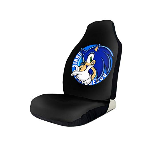 Xcxgsfam Sonic The Hedgehog Car Seat Covers Funny Truck Seat Cover Compatible Fits for Most Car,Universal