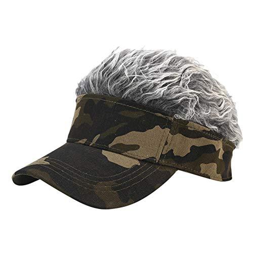 Gorras De Hombre Sombreros Cap Gorra De Béisbol De Golf con Visera De Pelo De Estilo Falso Sombrero De...