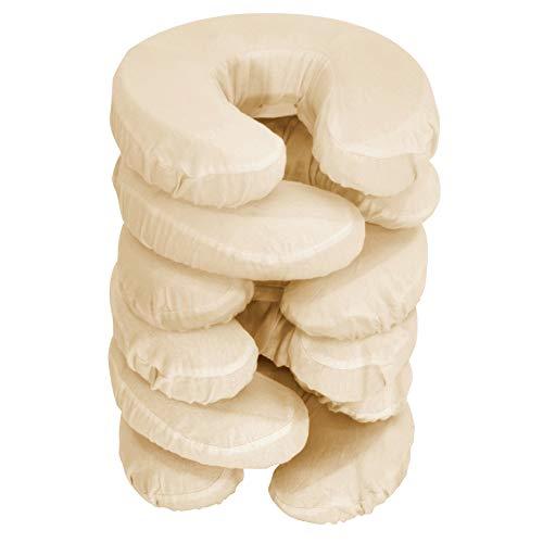 Master Massage Kopfbezüge waschbar 100% baumwolle für Massageliege Kopfpolster Kopfstütze Nackenkissen 6 Pack, Sahne