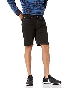 Amazon Essentials Men s Slim-Fit 9  Inseam Denim Short Black 36