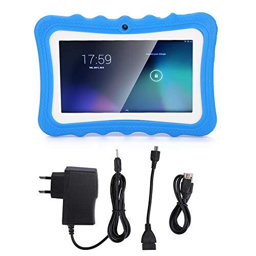 Tableta portátil para niños Pantalla HD de 7 pulgadas Tableta para niños pequeños Tableta de Android con pantalla táctil Juguetes de aprendizaje para niños con función de protección ocular(azul)