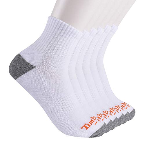 Timberland PRO Herren Men's Performance Quarter Length 1/2 Cushion Socks 6-Pack Freizeitsocken, weiß, Medium