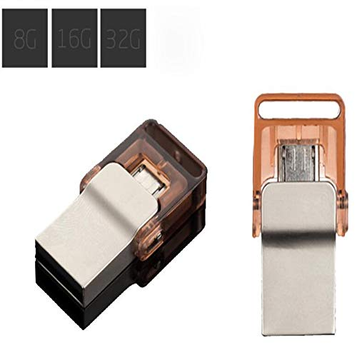 Preisvergleich Produktbild CITW 8GB / 16Cg / 32GB Stylisches USB-Stick Business-Geschenk Handy-Computer Universal Metal Rotating U-Disk, Gold, 8GB