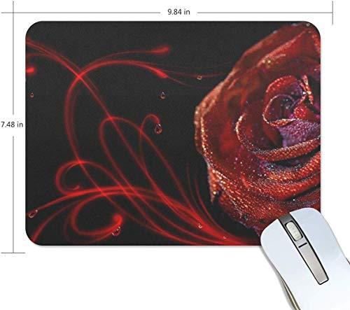 Herrliche Rose-Kunst-Blume Rechteck Mauspad Griffige Gummi Gaming Mouse Pad 7.9x9.5 Zoll