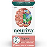 Brain Support Supplement - Neuriva Original (30 count in a bottle), Helps Support 5 Indicators Of Brain Performance: Focus, Memory, Learning, Accuracy & Concentration, With Neurofactor and PS