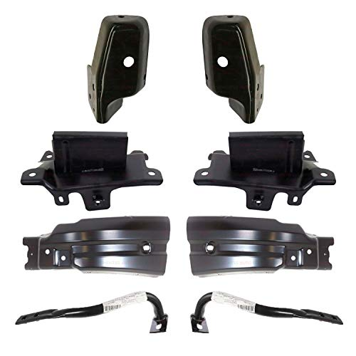 New Front Bumper Bracket Kit Brace Outer Support Extension Steel For 2007-2013 Chevrolet Silverado 1500 Pickup Truck Direct Replacement 22861858 22861859 22737639 15838208 15902624 15902625