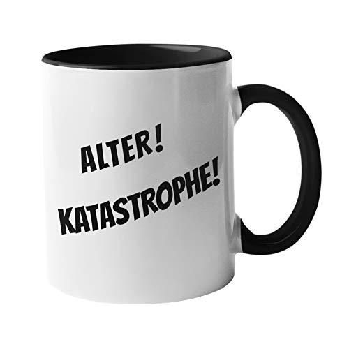 Druckerino Tasse - Alter! Katastrophe! - Spaßtasse - Spruchtasse - Bürotasse - Kaffeetasse - Vatertagsgeschenk
