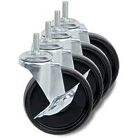 4-Pack Honey-Can-Do 4 Inch Caster Roller Wheels for HCD Shelving Unit