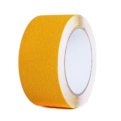 Mcottage 2.5cmx5m rutschfest Traktion Klebeband Starke Griffigkeit Abrieb Bänder für Innen Außen Treppen Boot Decks - Gelb