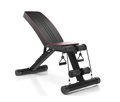 Acobonline Banco de Pesas Ajustable para Fitness, Banco de Musculación Multifunción para Entrenamiento de Cuerpo Entero, Respaldo abatible, diseño Compacto (Bancos ajustables)
