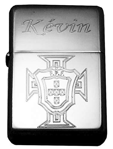 patrickgravure Briquet Tempête personnalisé Croix du Portugal Drapeau