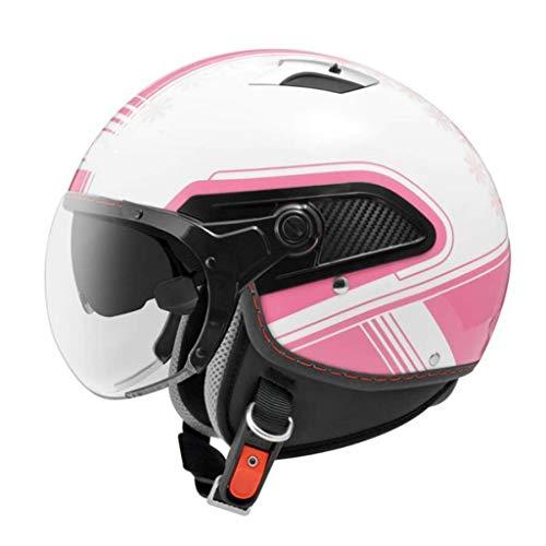 ZHEN Casco abierto 3/4 aprobado por DOT, ajuste retro, para hombres y mujeres, ATV, ciclomotor, scooter, motocicleta, vintage, casco jet para bicicleta, scooter (56-62)