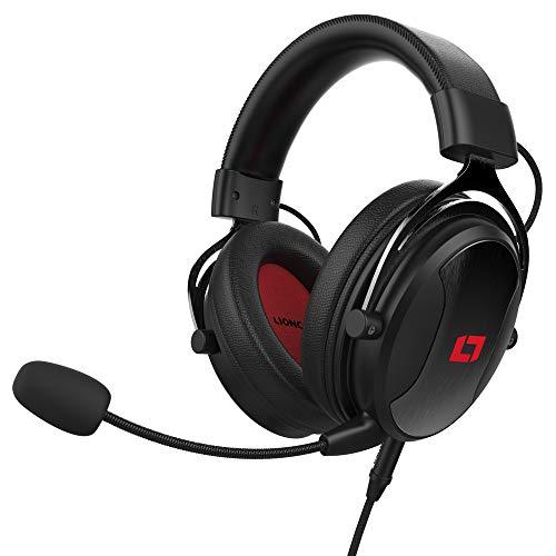 Lioncast LX55 Gaming Headset - mit Mikrofon, HQ Stereo-Sound, kabelgebunden mit 3.5mm Klinkenanschluss, für PC/Playstation 5/Xbox One/Switch/Mac/Smartphone