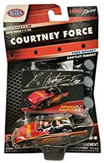 NASCAR Authentics NHRA Courtney Force Diecast Car 1/64 Scale - 2018 Wave 7 - with Free Die-Cut Magnet - Collectible